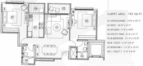 1300 sqft, 2 bhk Apartment in Radius Ten BKC Bandra East, Mumbai at Rs. 0