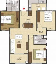 1410 sqft, 3 bhk Apartment in Brigade Xanadu Mogappair, Chennai at Rs. 0