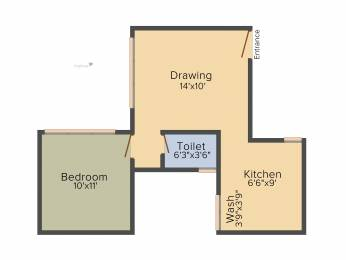 640 sqft, 1 bhk Apartment in Savvy Studioz Gota, Ahmedabad at Rs. 0