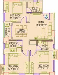 1248 sqft, 3 bhk Apartment in Primarc Aangan Dum Dum, Kolkata at Rs. 0
