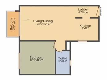 923 sqft, 1 bhk Apartment in Anik One Rajarhat New Town, Kolkata at Rs. 0