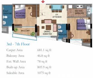 1075 sqft, 2 bhk Apartment in Belani Zest Rajarhat, Kolkata at Rs. 0