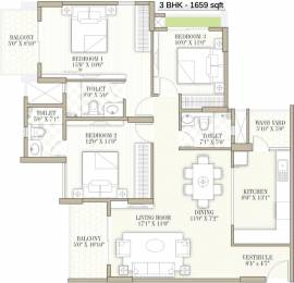 1659 sqft, 3 bhk Apartment in Goyal Orchid Whitefield Whitefield Hope Farm Junction, Bangalore at Rs. 0