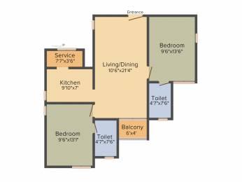 1018 sqft, 2 bhk Apartment in BBCL Midland Sholinganallur, Chennai at Rs. 0
