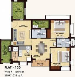 1033 sqft, 2 bhk Apartment in BBCL Midland Sholinganallur, Chennai at Rs. 0