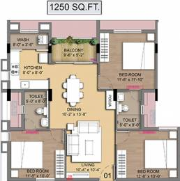 1250 sqft, 3 bhk Apartment in Radiance Empire Perambur, Chennai at Rs. 0
