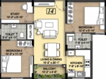 1065 sqft, 3 bhk Apartment in Radiance Mercury Phase 2 Perumbakkam, Chennai at Rs. 0