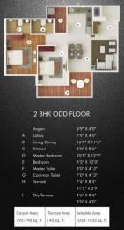 1083 sqft, 2 bhk Apartment in Nahar F Residences Balewadi, Pune at Rs. 0