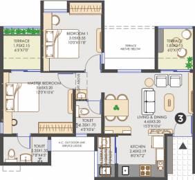 888 sqft, 2 bhk Apartment in Vilas Javdekar Yashwin Hinjawadi Hinjewadi, Pune at Rs. 0