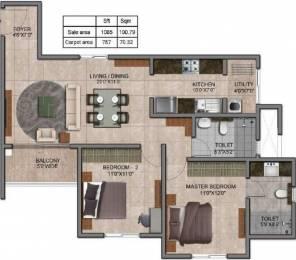1085 sqft, 2 bhk Apartment in Prestige Jindal City Dasarahalli on Tumkur Road, Bangalore at Rs. 0