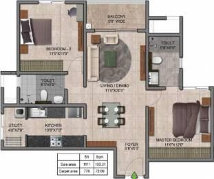 1111 sqft, 2 bhk Apartment in Prestige Jindal City Dasarahalli on Tumkur Road, Bangalore at Rs. 0