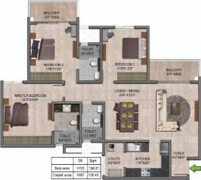 1703 sqft, 3 bhk Apartment in Prestige Jindal City Dasarahalli on Tumkur Road, Bangalore at Rs. 0