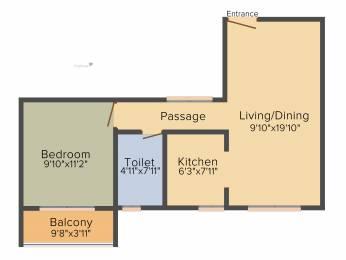 658 sqft, 1 bhk Apartment in Salarpuria Sattva Park Cubix Devanahalli, Bangalore at Rs. 0