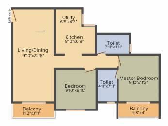 1009 sqft, 2 bhk Apartment in Salarpuria Sattva Park Cubix Devanahalli, Bangalore at Rs. 0