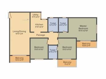 1498 sqft, 3 bhk Apartment in Salarpuria Sattva Park Cubix Devanahalli, Bangalore at Rs. 0