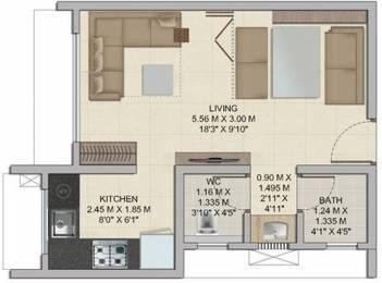 289 sqft, 1 bhk Apartment in Wadhwa Wise City Panvel, Mumbai at Rs. 0