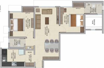 628 sqft, 2 bhk Apartment in Wadhwa Wise City Panvel, Mumbai at Rs. 0