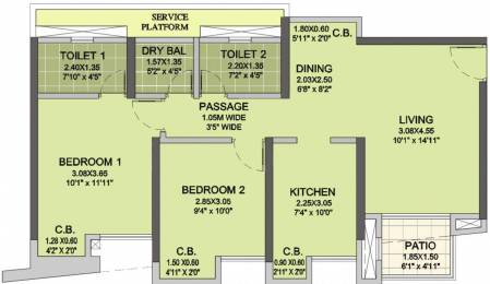 1103 sqft, 2 bhk Apartment in Puraniks City Reserva Phase 1 Thane West, Mumbai at Rs. 0