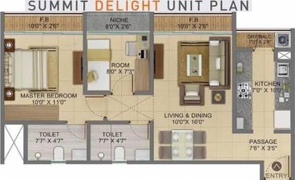 929 sqft, 2 bhk Apartment in Shapoorji Pallonji Codename Arise Virar, Mumbai at Rs. 0
