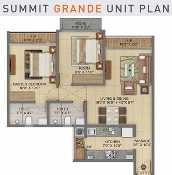 1064 sqft, 2 bhk Apartment in Shapoorji Pallonji Codename Arise Virar, Mumbai at Rs. 0