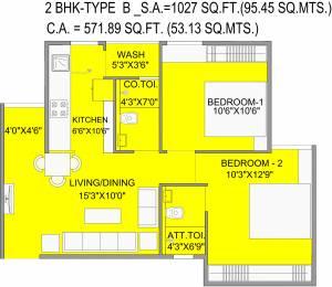 571.89 sqft, 2 bhk Apartment in Bakeri Samyaka Vejalpur Gam, Ahmedabad at Rs. 0
