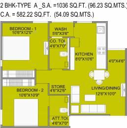 582.22 sqft, 2 bhk Apartment in Bakeri Samyaka Vejalpur Gam, Ahmedabad at Rs. 0