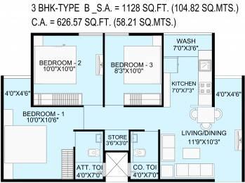 626.57 sqft, 3 bhk Apartment in Bakeri Samyaka Vejalpur Gam, Ahmedabad at Rs. 0