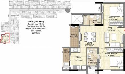 965 sqft, 2 bhk Apartment in DRA 90 Degrees Madipakkam, Chennai at Rs. 0
