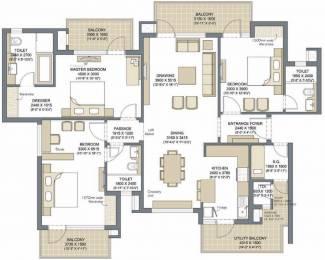 2285 sqft, 3 bhk Apartment in Microtek Greenburg Sector 86, Gurgaon at Rs. 0