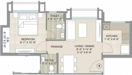 392.67 sqft, 1 bhk Apartment in Hiranandani Barca Thane West, Mumbai at Rs. 0