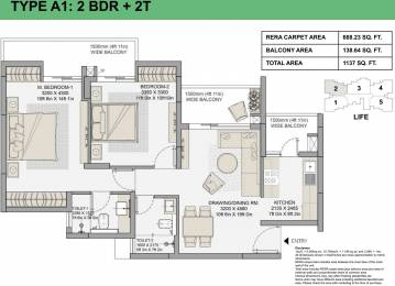 668.23 sqft, 2 bhk Apartment in Eldeco Live By The Greens Sector 150, Noida at Rs. 0