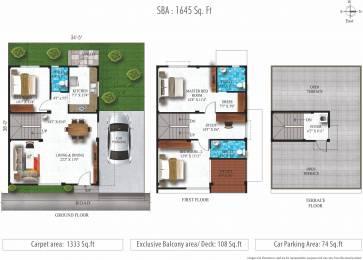 1645 sqft, 3 bhk Villa in Alliance Humming Gardens Villas Phase 2 Thaiyur, Chennai at Rs. 0
