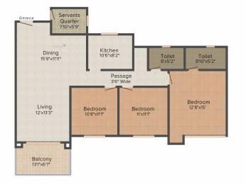 1835 sqft, 3 bhk Apartment in Ideal Greens Tollygunge, Kolkata at Rs. 0