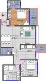 1180 sqft, 2 bhk Apartment in Shree Balaji Ganga Newtown Phase I Dhanori, Pune at Rs. 0