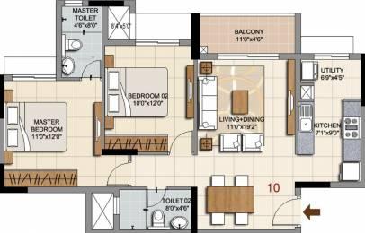 1047 sqft, 2 bhk Apartment in Ozone Prime Devanahalli, Bangalore at Rs. 0