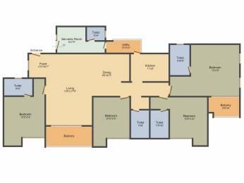 2566 sqft, 4 bhk Apartment in Ozone Greens Medavakkam, Chennai at Rs. 0
