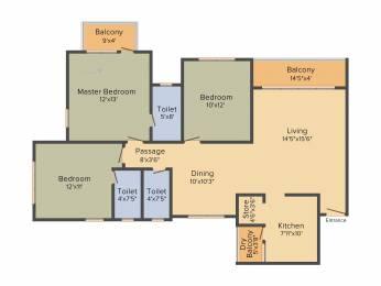 1729 sqft, 3 bhk Apartment in Godrej Garden City Near Nirma University On SG Highway, Ahmedabad at Rs. 0
