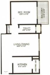 804 sqft, 1 bhk Apartment in Karia Konark Orchid Wagholi, Pune at Rs. 0