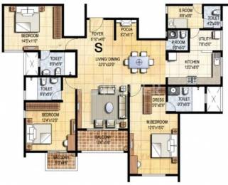 2172 sqft, 3 bhk Apartment in Prestige Falcon City Konanakunte, Bangalore at Rs. 0