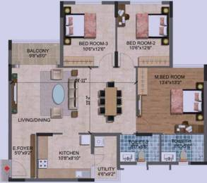1500 sqft, 3 bhk Apartment in Purva Westend Begur, Bangalore at Rs. 0
