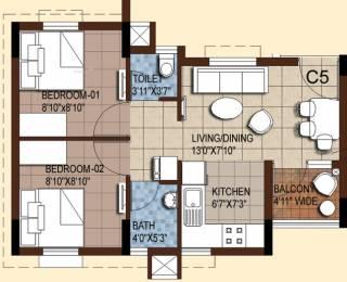 1222 sqft, 2 bhk Apartment in Akshaya Tango Thoraipakkam OMR, Chennai at Rs. 0