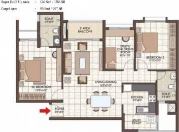 1355 sqft, 2 bhk Apartment in Prestige Kew Gardens Bellandur, Bangalore at Rs. 0