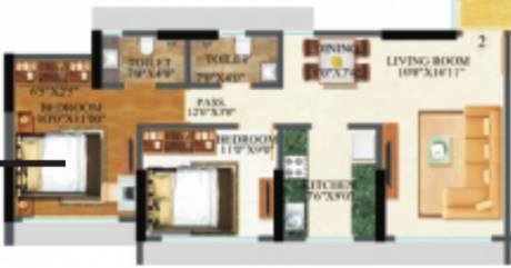 995 sqft, 2 bhk Apartment in Raj Arcades Kalpavruksh Heights Kandivali West, Mumbai at Rs. 0