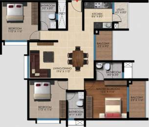 1539 sqft, 3 bhk Apartment in Vaishnavi Oasis JP Nagar Phase 9, Bangalore at Rs. 0