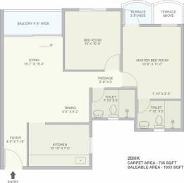 1053 sqft, 2 bhk Apartment in TATA La Montana Talegaon Dabhade, Pune at Rs. 0