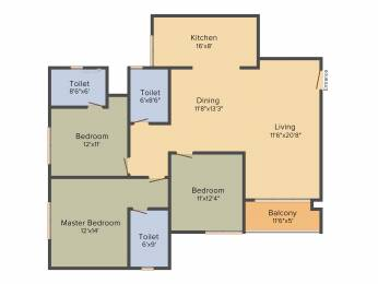 1705 sqft, 3 bhk Apartment in Prestige Royale Gardens Yelahanka, Bangalore at Rs. 0
