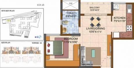 654 sqft, 1 bhk Apartment in Prestige Royale Gardens Yelahanka, Bangalore at Rs. 0