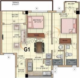 1454 sqft, 3 bhk Apartment in Mahindra Iris Court Singaperumal Koil, Chennai at Rs. 0