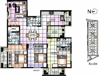 1435 sqft, 3 bhk Apartment in Sowparnika Sanvi Whitefield Hope Farm Junction, Bangalore at Rs. 0