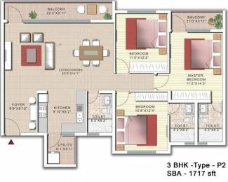 1717 sqft, 3 bhk Apartment in SJR Palazza City Sarjapur Road Wipro To Railway Crossing, Bangalore at Rs. 0